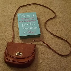 Nine West Small Brown Crossbody Leather Purse